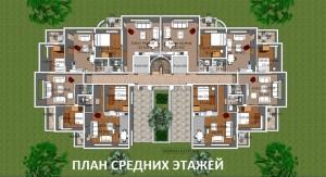 Квартиры в Коньялты, комплекс Sara Residence